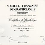 diplome société française de graphologie
